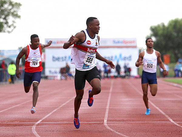 South African sprinter Akani Simbine